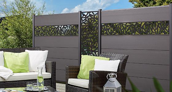 Relativ Sichtschutz WPC, Holz, Kunststoff oder Glas für Garten & Terrasse QS28