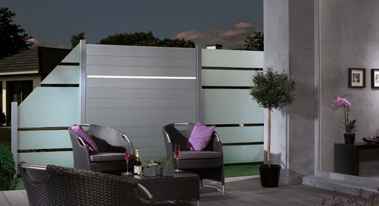 Relativ Sichtschutz WPC, Holz, Kunststoff oder Glas für Garten & Terrasse YL05